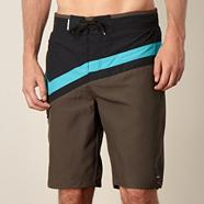 Brown panel swim shorts