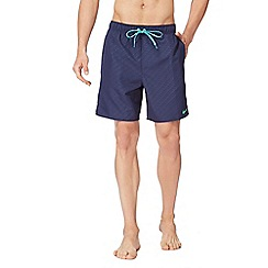 Nike - Navy printed logo swim shorts