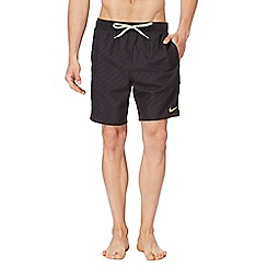 Nike - Black printed logo swim shorts