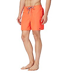 Nike - Orange logo swim shorts