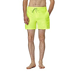 Nike - Yellow logo swim shorts