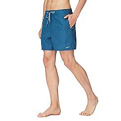 Nike - Turquoise logo swim shorts