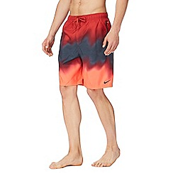 Nike - Red ombre swim shorts