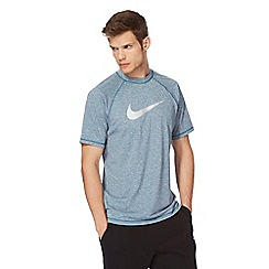 Nike - Blue 'Dri-fit' logo print t-shirt