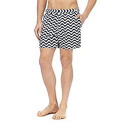 Red Herring - Navy printed swim shorts