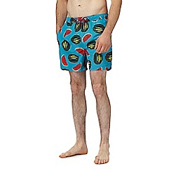 Red Herring - Big and tall multi-coloured watermelon print swim shorts