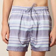 Lilac horizontal striped swim shorts