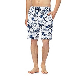 Red Herring - Blue and white skull print swim shorts
