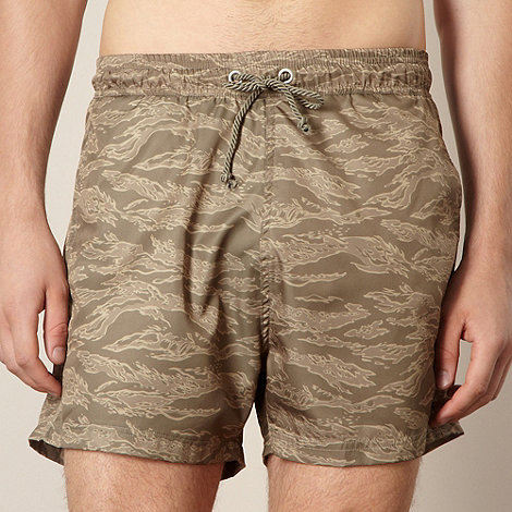 Red Herring - Khaki camouflage swim shorts