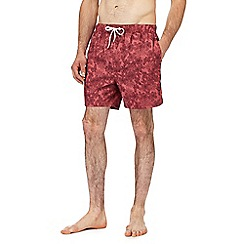 Red Herring - Red tropical floral print swim shorts