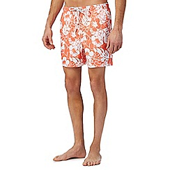 Maine New England - Big and tall orange floral print swim shorts