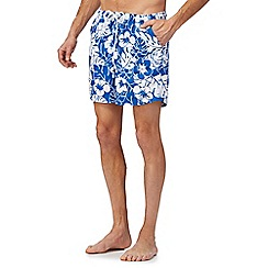 Maine New England - Big and tall blue floral print swim shorts
