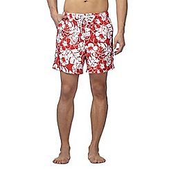 Maine New England - Red floral print swim shorts