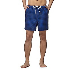 Maine New England - Big and tall blue gingham check shorts