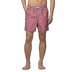 Maine New England - Big and tall pink gingham check shorts