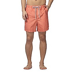 Maine New England - Orange gingham check shorts