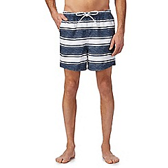 Maine New England - Navy stripe print swim shorts
