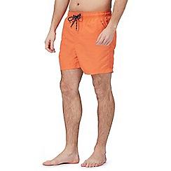 Maine New England - Big and tall orange basic swim shorts