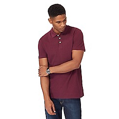 Maine New England - Dark red pique polo shirt