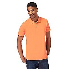 Maine New England - Orange pique polo shirt