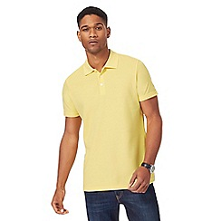 Maine New England - Yellow pique polo shirt