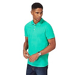 Maine New England - Green pique polo shirt