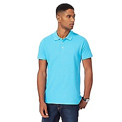 Maine New England - Light blue pique polo shirt