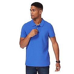 Maine New England - Blue pique polo shirt