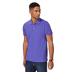 Maine New England - Big and tall purple pique polo shirt