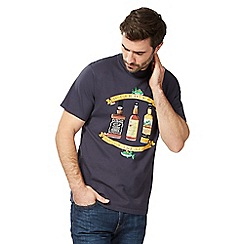 Weird Fish - Navy 'That's the spirit' print t-shirt