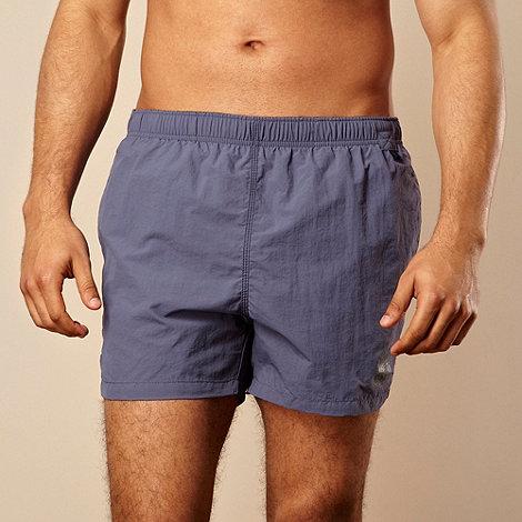 Jockey - Dark blue logo printed swim shorts