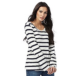 Weird Fish - Multi-coloured stripe long-sleeve t-shirt