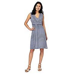 Weird Fish - Navy striped dress