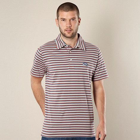 Weird Fish - Big and tall orange multi striped polo shirt - XXL