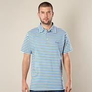 Blue multi striped polo shirt