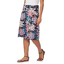 Weird Fish - Blue floral printed skirt