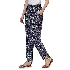 Weird Fish - Navy floral print trousers