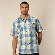 Blue checked two pocket shirt