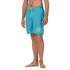 Weird Fish - Blue logo swim shorts
