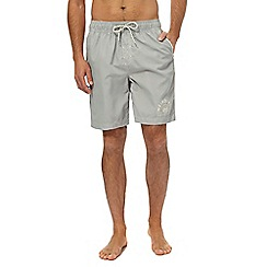 Weird Fish - Grey logo swim shorts
