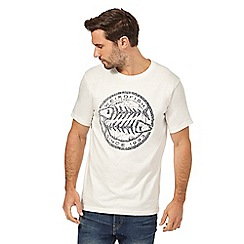 Weird Fish - White crew neck t-shirt