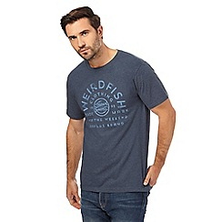 Weird Fish - Big and tall navy crew neck t-shirt