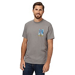 Weird Fish - Big and tall grey 'red sparrows' print t-shirt
