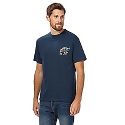 Weird Fish - Big and tall navy 'fish eat fish' crew neck t-shirt