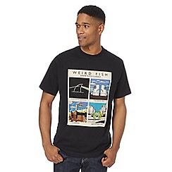 Weird Fish - Black 'Shrimp floyd' print t-shirt