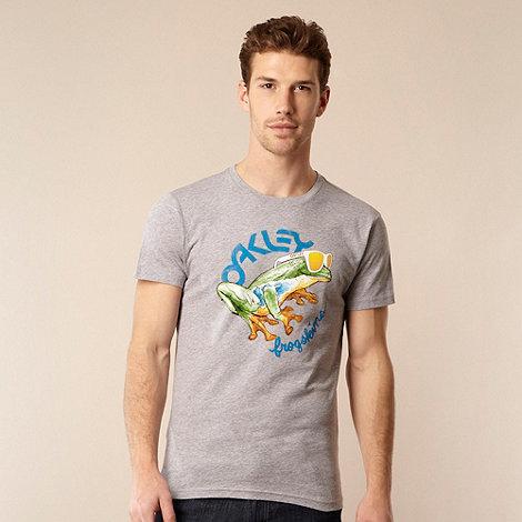 Oakley - Grey frog and sunglasses motif t-shirt