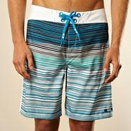 Blue varied stripe board shorts