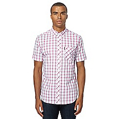Ben Sherman - Big and tall pink checked regular fit shirt