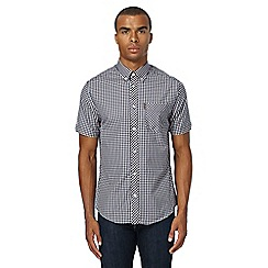 Ben Sherman - Blue checked regular fit shirt
