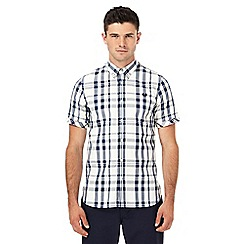 Fred Perry - White and navy checked shirt